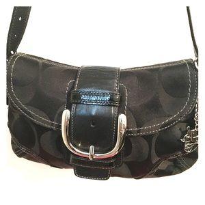 COACH Authentic Signature Black Mini Bag Baguette